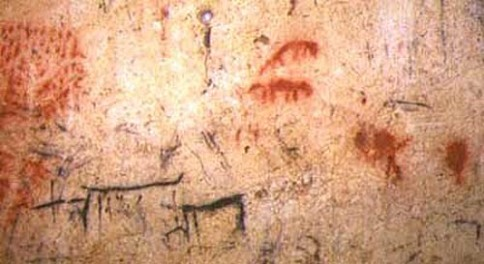 Arte rupestre en la Galería del Sílex