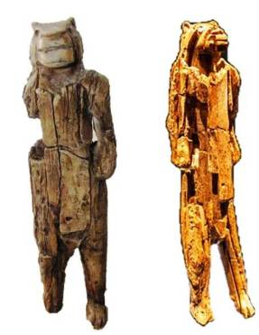 The Lion-Man in 1988 (L) and 2011 (R)