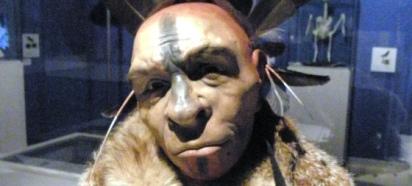 Imagen de un Neandertal