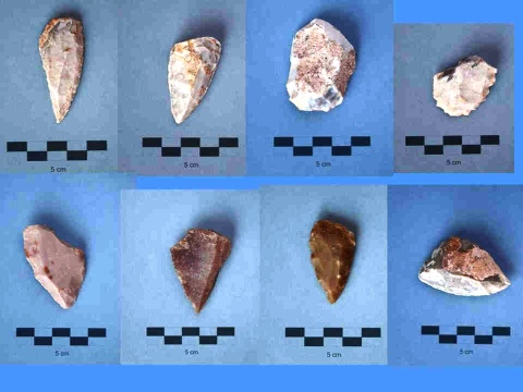 Sima de las Palomas. Mousterian tools