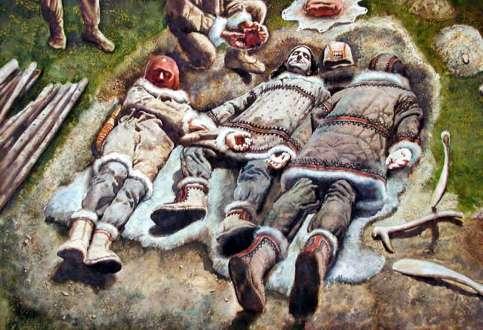 Interpretación enterramiento Dolní Věstonice