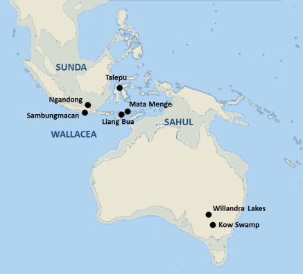 Mapa Sunda y Sahul