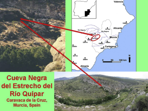 Cueva Negra mapa