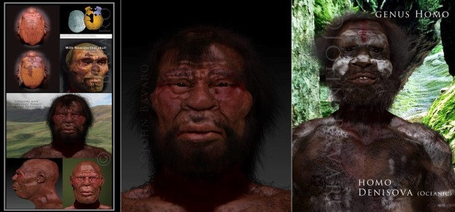 Paleoart John Bavaro. Denisovan