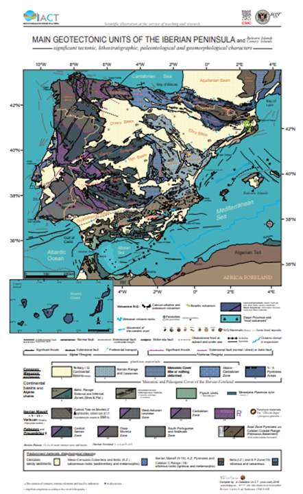 Póster Main Geotectonic Units of the Iberian Peninsula