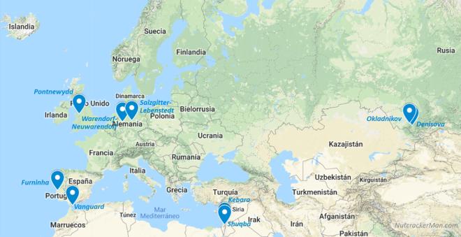 Mapa extremos neandertales
