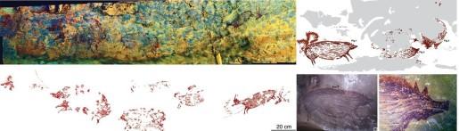 Pinturas rupestres en Sulawesi